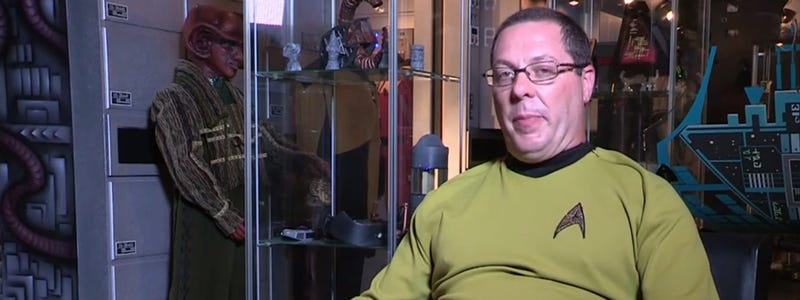 This guy spent $500,000 in his Star Trek collection
