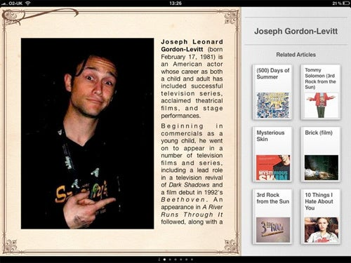 Discover iPad App Turns Wikipedia Entries into Magazine Articles