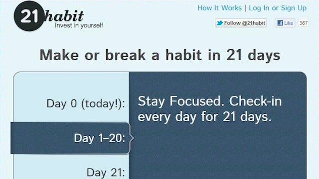 21Habit Challenges You to Make or Break a Habit in 21 Days, Rewards You With Cash