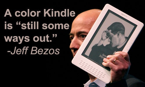 Don't Hold Your Breath For the Color Kindle