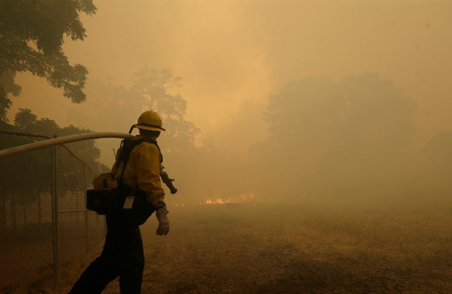 One Firefighter Dead as Wildfires Rage Across Northern California