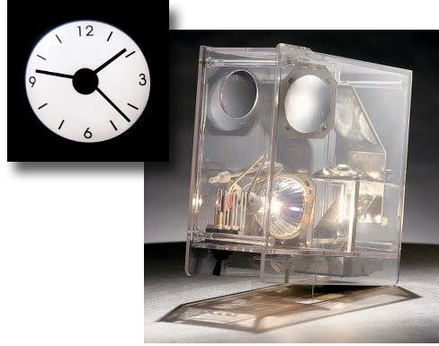 Analog Projection Clock: See-Through, Old Skool
