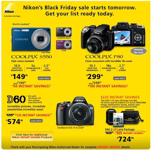 Nikon Black Friday Deals Surface