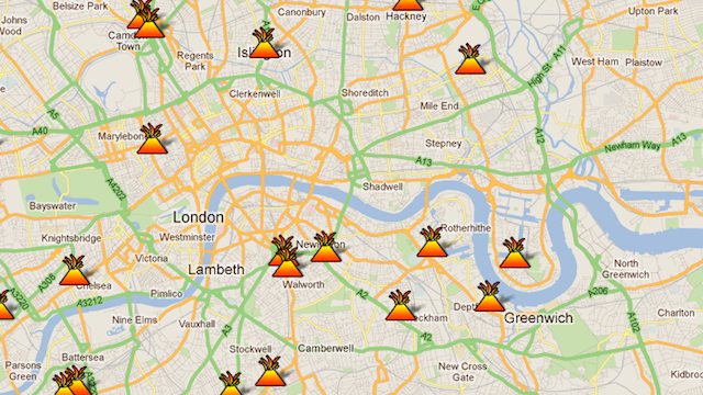 A Map of Every London Riot Zone