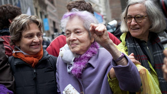 87-Year-Old Woman Tries But Fails To Get Arrested At Occupy Wall Street