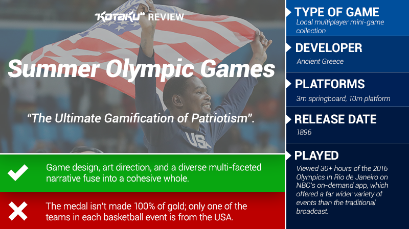 The Olympic Summer Games: The Kotaku Review