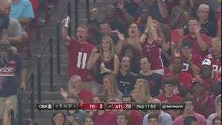 Is This Celebrating Falcons Fan Grabbing Her Friend's Dick?