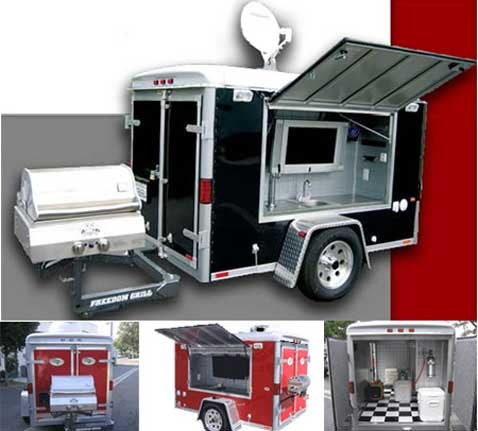 Ultimate Tailgating Trailer Lets You Party in a Parking Lot in Style