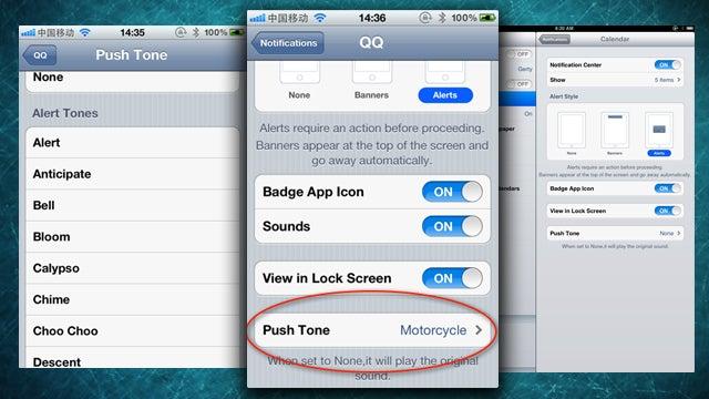 PushTone Sets Custom Notification Alert Tones by App