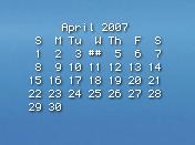 GeekTool desktop calendar
