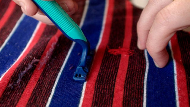 Use a Disposable Razor to De-Pill Your Clothes
