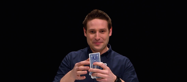 Magician can guess the card you're thinking about through this video