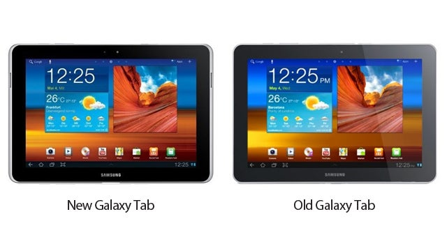 Samsung Just Changed the Galaxy Tab's Design Because of the iPad (OMG SOO DIFFERENT)
