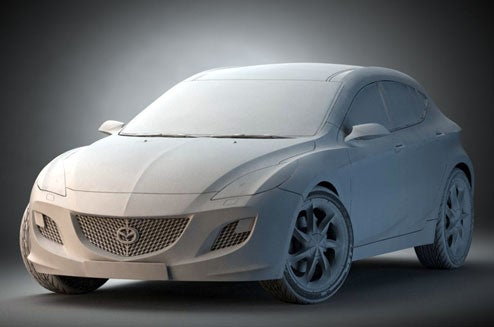 2010 Mazda3 Concept Fully Revealed... As A Photoshop