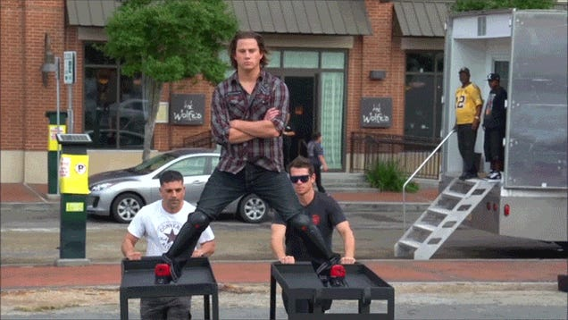 Channing Tatum Spoofs Van Damme's Epic Split... With Food Carts