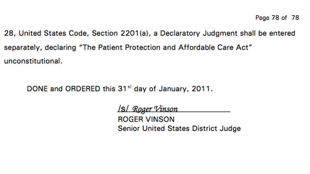 Why Was the Entire Health Care Law Ruled Unconstitutional?