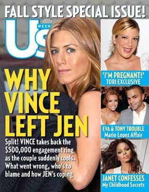 Selfish Aniston And Vaughn Split, Showing Little Consideration For Upcoming DVD Release Of Their Break-Up-Themed Movie