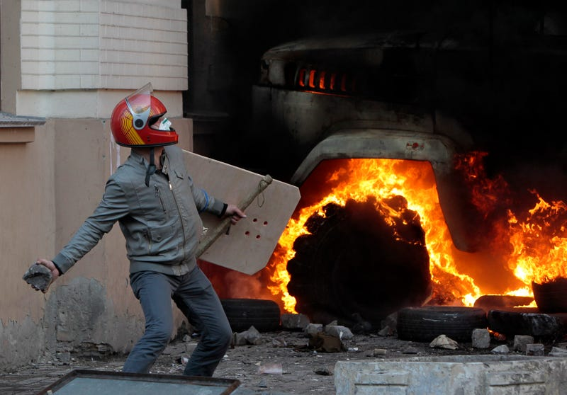 Flames and Chaos Erupt in Kiev as 21 Die in Police Raid on Protest
