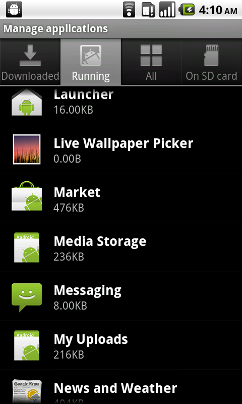 Android 2.2 Gallery