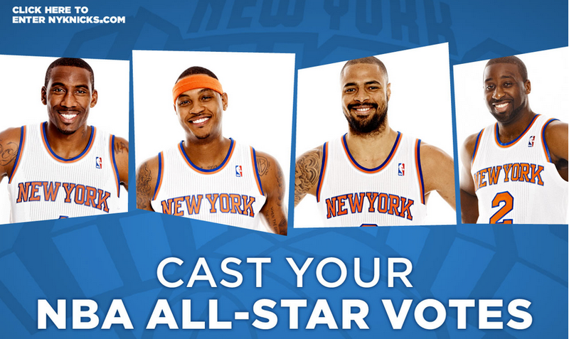 The People That Own Nets.com Are Now Redirecting The Page To The Knicks' All-Star Ballot