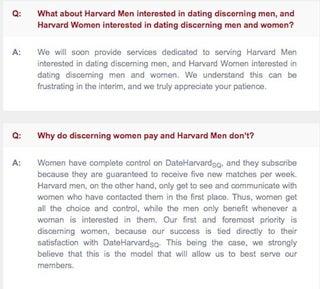 Harvard dating scene