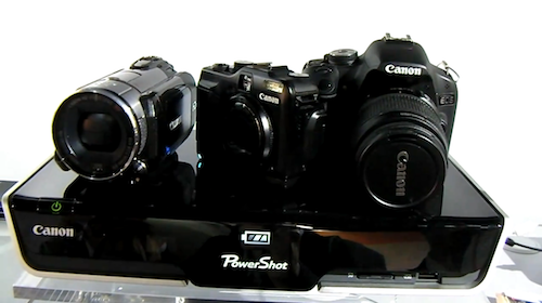 Put Your Camera on Canon's Prototype Dock and Watch it Magically Charge and Share