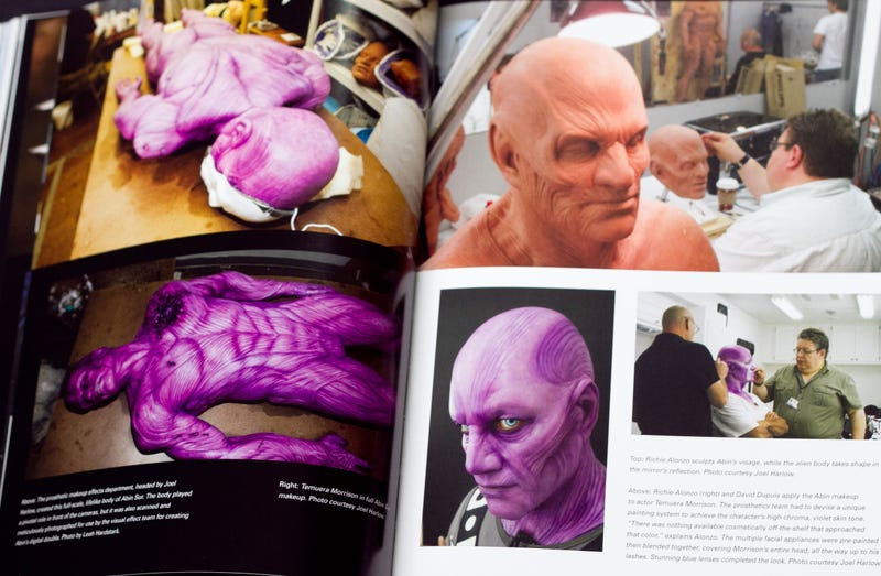 Mark Strong wore full Sinestro makeup and prosthetics on the Green Lantern set
