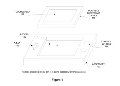 Apple Patents iPhone Gaming Add-ons With Buttons, DS-Like Control and Display Scheme