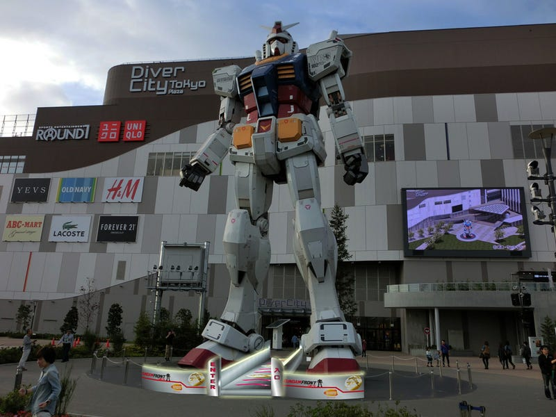 Soon, You Can Walk Under the Giant Gundam's Crotch