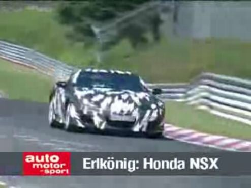 Even More Of The 2010 Acura NSX Rounding The 'Ring
