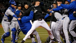 Last Night's White Sox-Royals Brawl Was A Photographer's Delight