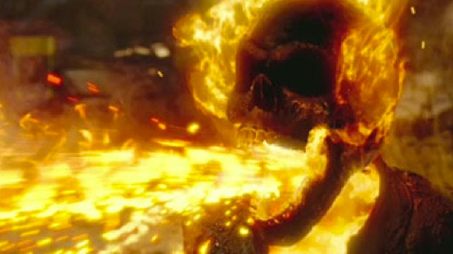 Rollerblades + Nic Cage + Fire Barf = One Awesome New Ghost Rider