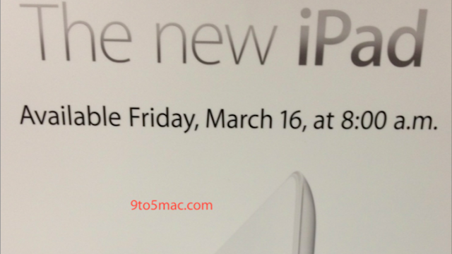 Apple Stores Will Open at 8AM on Friday March 16th for the New iPad