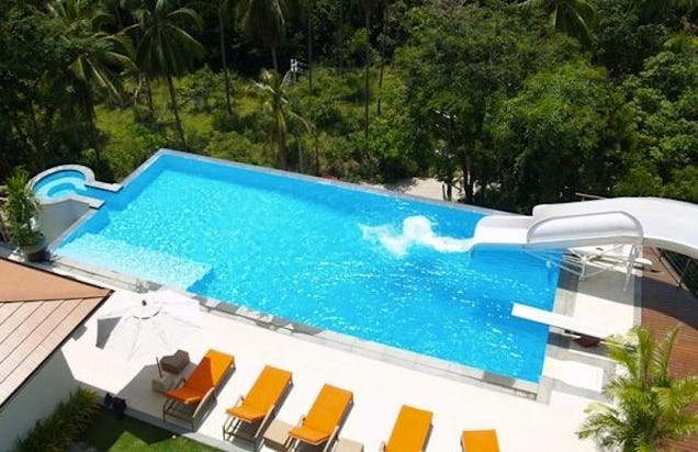 cool houses with pools and slides images pictures becuo