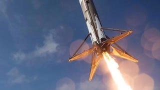 La mejor foto del cohete Falcon 9 justo antes de estrellarse