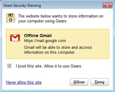 Google Gears Officially Updated for Firefox 3.5