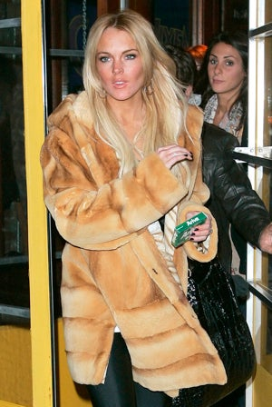 After Stealing a Fur Coat, Lindsay Lohan Is Rewarded With Another One