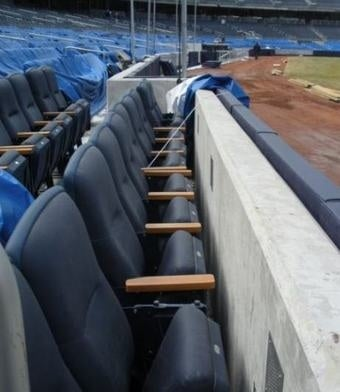 Yankee Stadium Is Not Real Big On Leg Room