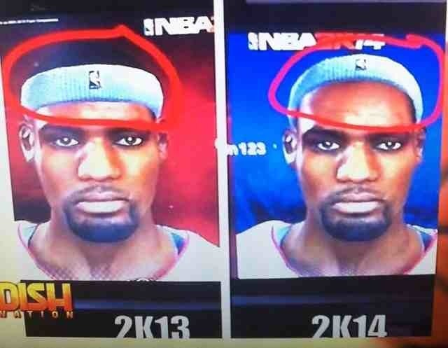 Look How Much LeBron's Hairline Receded From NBA 2K13 To NBA 2K14