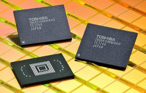 Toshiba Flash Chips Doubled to 32GB, Good for PMPs, Cellphones