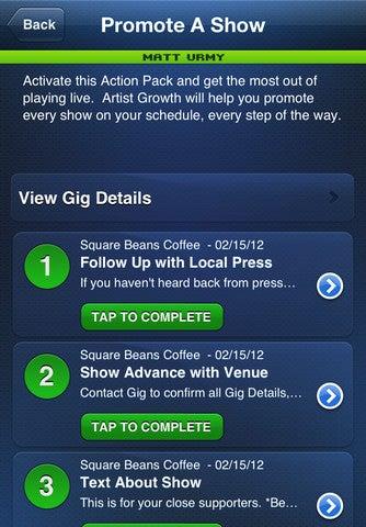 Artist Growth App Gallery