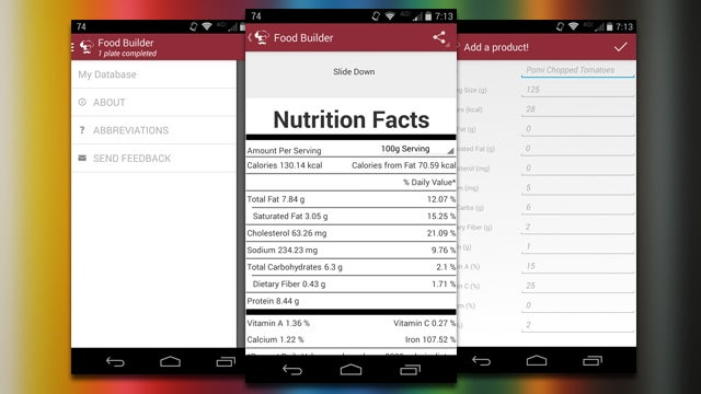 Food Builder Generates Nutrition Facts for Your Meals From Ingredients