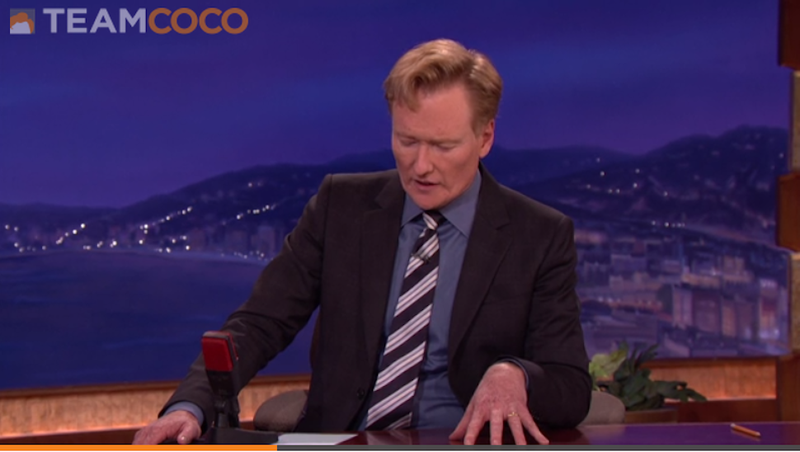 Watch Conan Break News of Robin Williams's Death to His Audience
