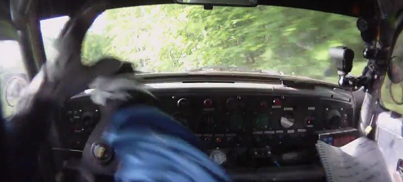 Incredible Save When VW Beetle Rally Car Goes Airborne