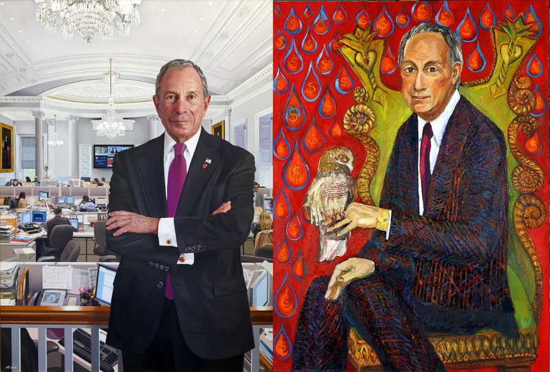 Here's Bloomberg's Official Portrait—And a Better, Unofficial One