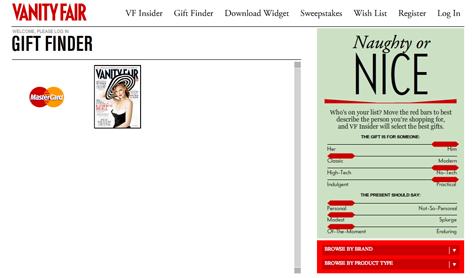 Vanity Fair's Gift Guide: MasterCard, MasterCard Or MasterCard?