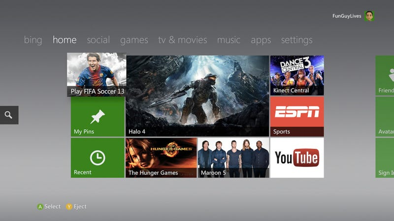Xbox 360 Dashboard Update: Oh Hey Internet Explorer for Your TV