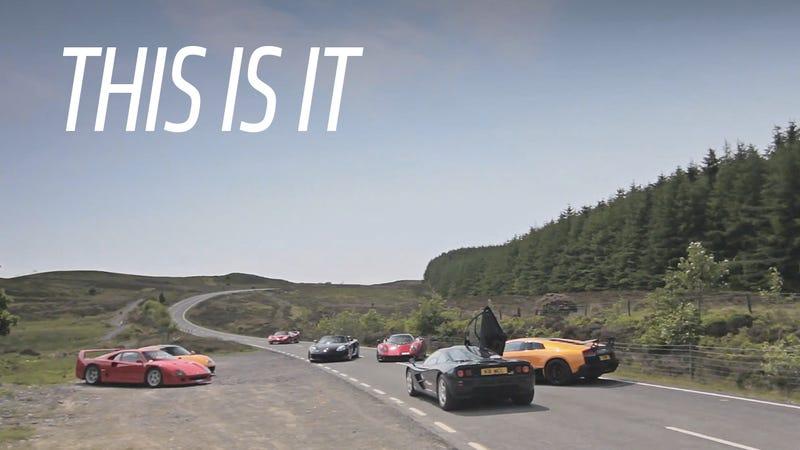 All The Analog Supercars: F1+F40+F50+Zonda+M600+LP670SV+Carrera GT