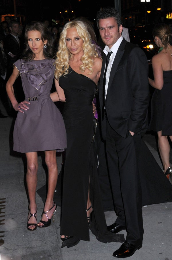 Allegra & Donatella Versace, Plus Balthazar Getty: Three's Company