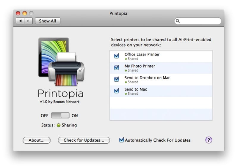 Printopia Enables iOS-to-Mac AirPrint Support Hack-Free, Adds Virtual Printers